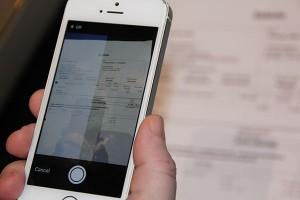 Számla szkennelése iPhone-nal